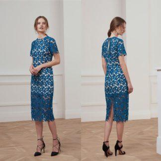 Коктейльное кружевное платье миди Keepsake