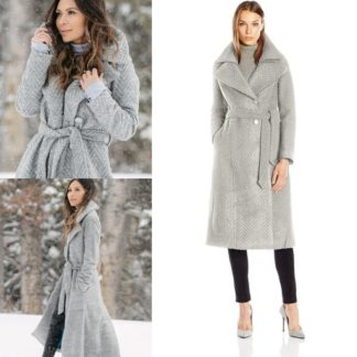 Пальто халат шерстяное с добавками Nannette Lepore