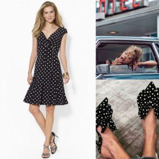 Платье в горошек Lauren Ralph Lauren