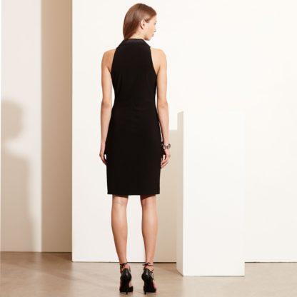 Платье-смокинг с шелковыми лацканами Lauren Ralph Lauren