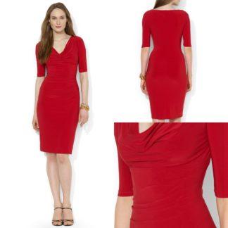 Платье-футляр красное Lauren Ralph Lauren