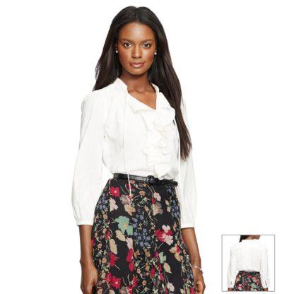 Блузка белая базовая Lauren Ralph Lauren