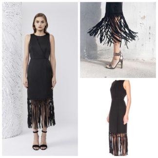 Keepsake платье с бахромой коктейльное