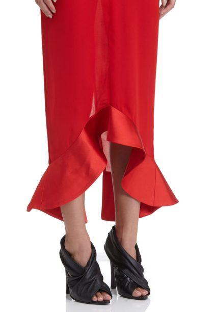 Красное платье миди AQ/AQ