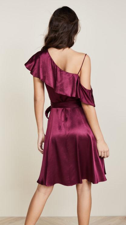 WAYF платье атласное на запах