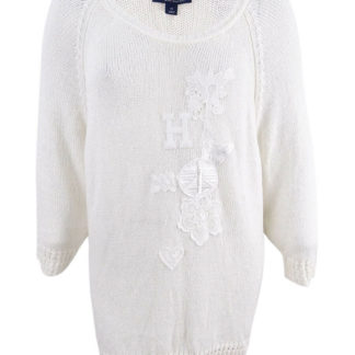 Пуловер белый Tommy Hilfiger